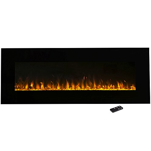 Electric Fireplace Wall Mounted, LED Fire and Ice Flame