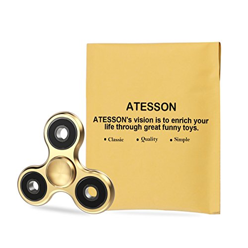 ATESSON Fidget Spinner Toy Ultra Durable Stainless Steel Bearing High Speed 2-5 Min Spins Precision Brass Material Hand spinner EDC ADHD Focus Anxiety Stress Relief Boredom Killing Time Toys