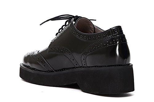 CafèNoir Ec948 010, Chaussures de ville à lacets pour femme Noir noir