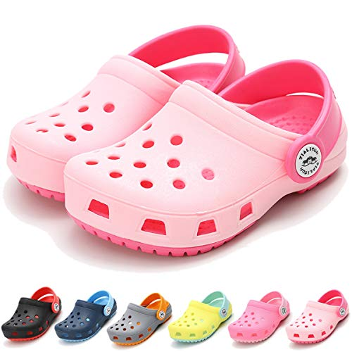 BENHERO Toddler Kids Boys Girls Classic Clogs- Slip On Cute Garden Water Shoes   Summer Slippers Pool Beach Slides Sandals   Lightweight and Comfort(Toddler/Little Kids),9 M US Toddler,B-Pink