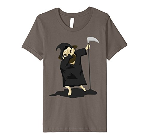 Reaper Grim Dog Costume (Kids Dabbing Pug Grim Reaper Costume Funny Halloween Dogs Tshirt 12)