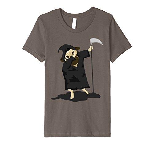 Grim Reaper Dog Costume (Kids Dabbing Pug Grim Reaper Costume Funny Halloween Dogs Tshirt 12)