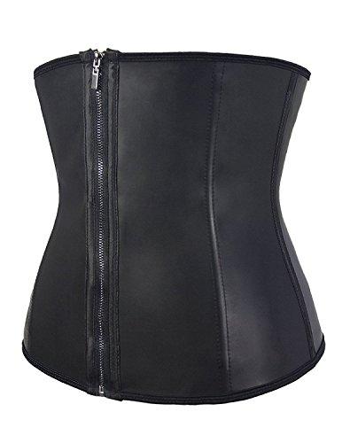MODETREND Mujeres Corsés de Goma Acero Deshuesado Retro Palacio Bustiers Push-up Fajas Corpiño Cintura Adelgazamiento Cinturón de Formación Negro