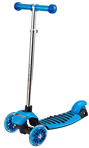 Voyage Scooter for Kids, Lean 2 Turn, Multi-color Light Up Wheels ( Blue )