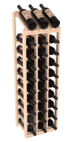 Wine Racks America Ponderosa Pine 3 Column 10 Row Display Top Kit. Unstained