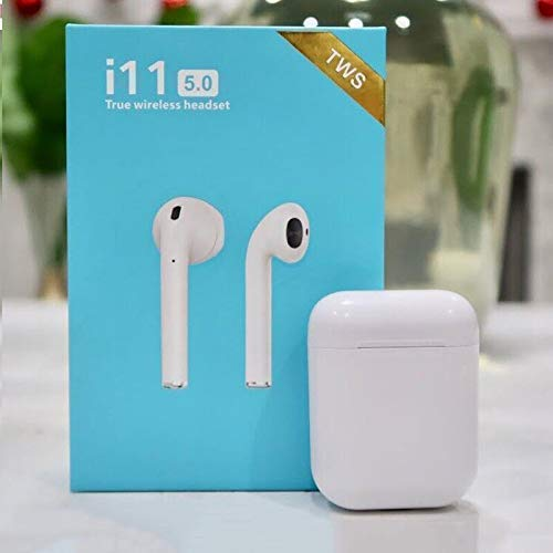 Photo of Madan Enterprises TWS i11 5.0 True Wireless Earphone with Portable Charging Case for Android/iOS Devices with Sensor (White Colour)