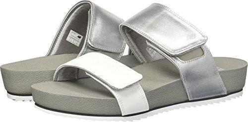 New Balance Women's City Slide Sandal, Silver, 7 B US by New Balance