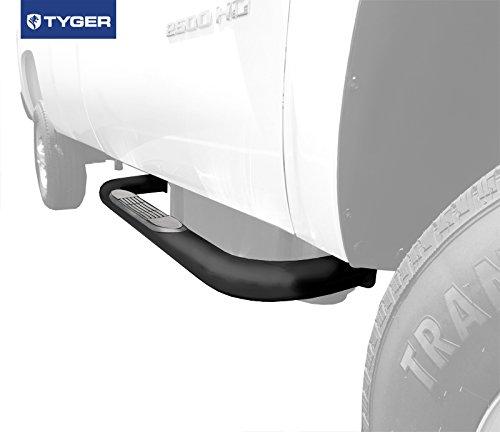 TYGER 3inch Black Side Step Nerf Bars 2pcs Fit 99-15 Silverado/Sierra Regular Cab LD/HD (Nfab Nerf Bars 2002 Gmc Sierra compare prices)