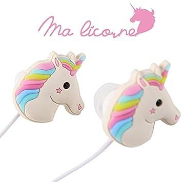 [garantía 1 año] auriculares in-ear unicornio | toma jack clásica (3.5