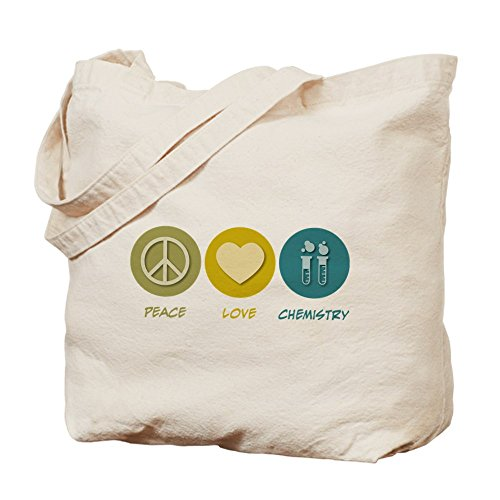 CafePress Peace Love Chemistry Tote Bag - Standard Multi-color by CafePress