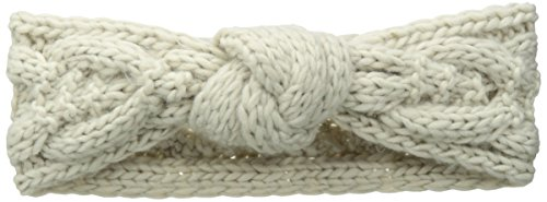 San Diego Hat Company Women's Cable Knit Knot Headband, Cream, One Size by San Diego Hat Company