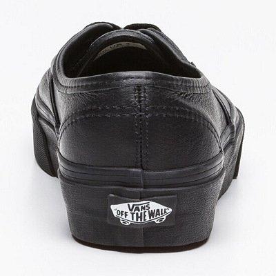 Noir Authentic en Vans Chaussures Cuir Vnojv5x1 wFBSFqx