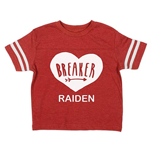 Little Valentine's Day Heartbreaker Raiden: Toddler Vintage Sports Tee