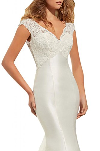 Mujer Crudo 52 Lápiz Braut Vestido Toskana Para aORI07cq