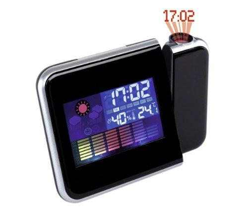 PROJEKTIONSUHR Color estación meteorológica Reloj proyector Reloj ...