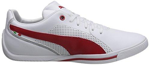 Puma Hombres Selection Ferrari Zapatillas De Deporte Con Cordones Blanco / Rojo Running