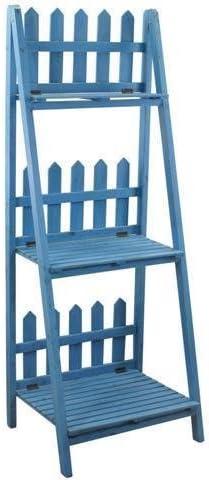 Mueble Estanteria Escalera Azul 141x54 cm: Amazon.es: Hogar