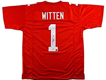 huge selection of fed70 b3831 Autographed Jason Witten Jersey - Orange Custom NCAA ...