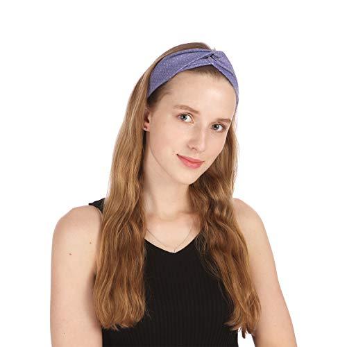 Folora 6Pcs Stretchy Elastic Solid Stirnb/änder Baumwolle Sport Haarband f/ür Frauen M/ädchen Pilates Geeignet f/ür Yoga Laufen Radfahren