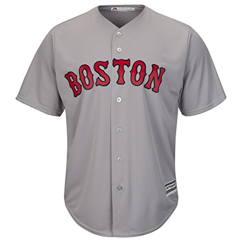 David Price Boston Red Sox #24 MLB Men's Cool Base Road Jersey Gray (Small)
