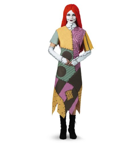Disguise Women's Disney Nightmare Before Christmas Sally Classic Costume, Yellow/ Red/ Black/ Green, X-Large (Halloween Costume Nightmare Before Christmas)