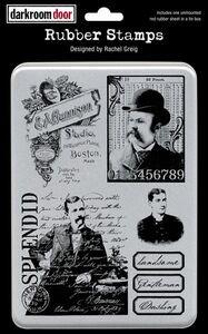 Darkroom Door Rubber Dashing Gents Stamp Set