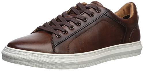 Steve Madden Men's SHOWTYME Sneaker, Cognac Leather, 9.5 M US