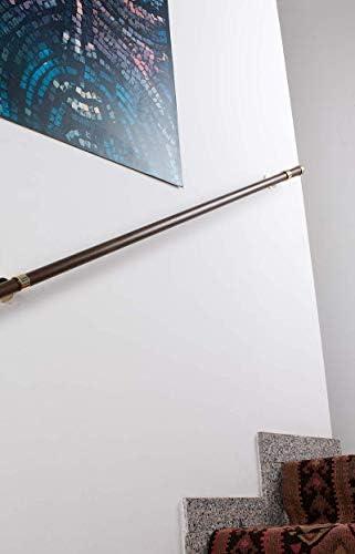 140 cm in Legno /Ø 28 mm InCasa Corrimano L Portata 80 kg Completo