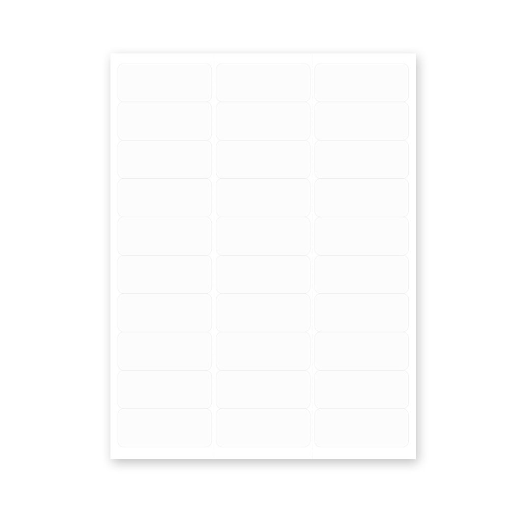 PDC Healthcare LS1258 Chart Labels Laser, Portrait 2 5/8'' x 1'', White (Pack of 100)