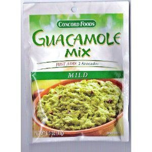 Concord foods Guacamole Mix Mild, 1.5 OZ Pouches (Pack of 18) by Concord Foods