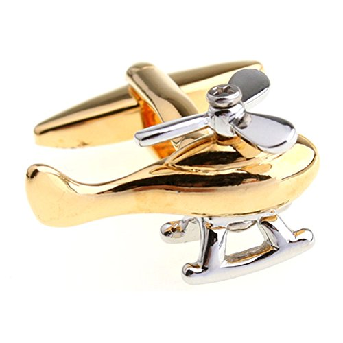 Gold Helicopters Pilot Rescue RAF Air Ambulance Man Present Gift Cufflinks - Helicopter Air Ambulance