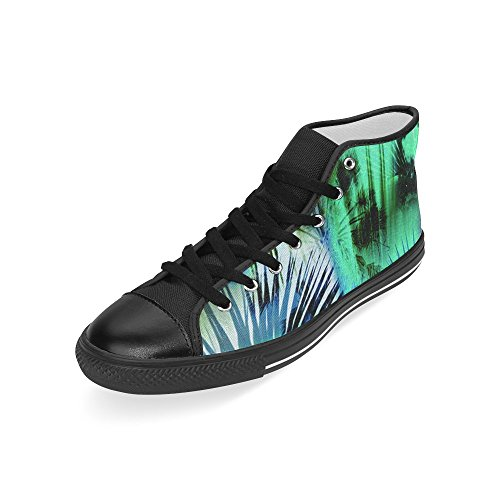 InterestPrint Lace-up Tropical Tree Classic High Top Men Sneakers Fashion Fitness Canvas Shoes xQB2969kq
