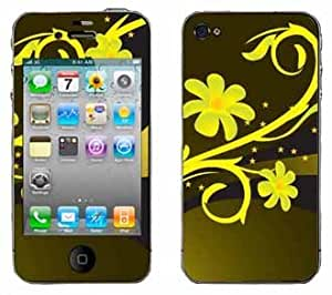 Yellow Daisy Chains Skin for Apple iPhone 4 4G 4th Generation