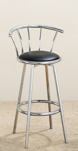 50's Style Bar Stool (Set of 2 50's Retro Nostalgic Style Black Bar Stools)