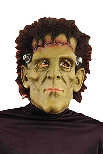 Frankenstien Mask (Forum Novelties Men's Reborn Monster Latex Mask with Hair, Green/Black, One Size)