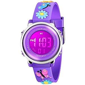 Kid Watch 3D Cute Cartoon Multi Function 50M Waterproof Sport LED Alarm Stopwatch Digital Child Wristwatch for Boy Girl