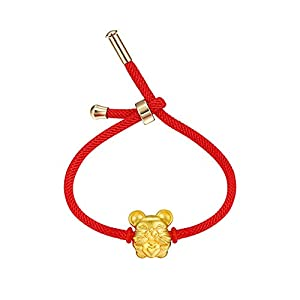 Vanski 2020 Zodiac Sign Mouse New Year Charm Bracelet for Women Adjustable Red Rope Braided Chinese Good Luck Symbol Jewelry