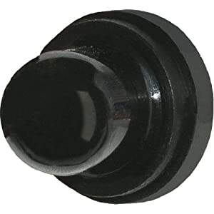 Blue Sea Systems Push Button Reset Only Circuit Breaker Boot, Black