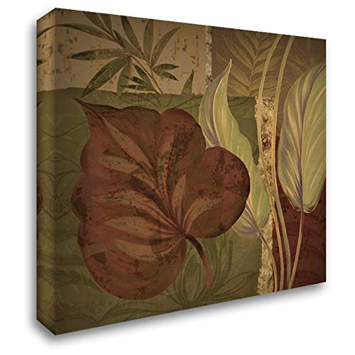 Tropical Foliage II 28x28 Gallery Wrapped Stretched Canvas Art by Gladding, Pamela