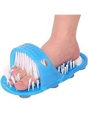 Messar Bathroom Shower No Bending Feet Brush Foot Cleaning Bristle Slipper Washer Bath Scrubber Massager Stick on Floor