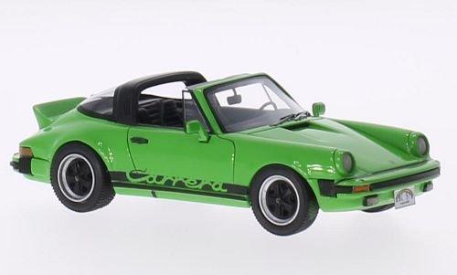 Porsche 911 Carrera Targa, grün/Dekor, 1985, Modellauto, Fertigmodell, Neo 1:43