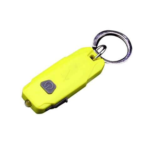 yililay Mini LED llavero linterna USB Llave recargables ...