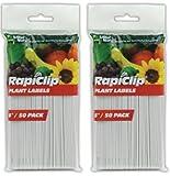 Luster Leaf Rapiclip 6-Inch Garden Plant Labels - 2 Set of 50 Pack
