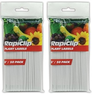 Luster Leaf Rapiclip 6-Inch Garden Plant Labels - 2 Set of 50 Pack by Luster Leaf