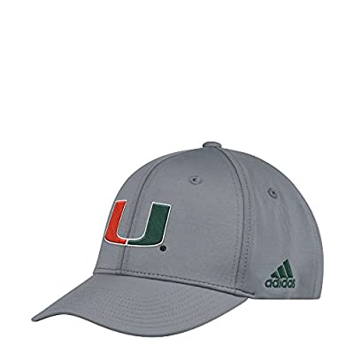 adidas Miami Hurricanes Coaches Sideline Climalite Adjustable Hat