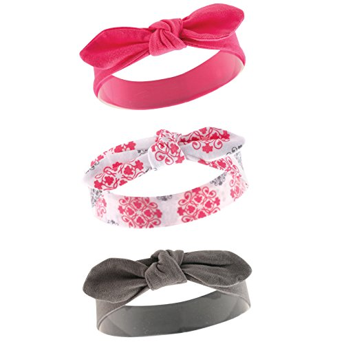 Yoga Sprout Baby Girls' 3 Pack Bow Baby Headbands,Medallion,12-24 Months by Yoga Sprout