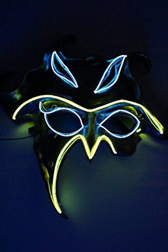 LED Mask Nature Spirit, El Wire Mask,Glow Light up Halloween Party Mask (Halloween Stores Spirit)