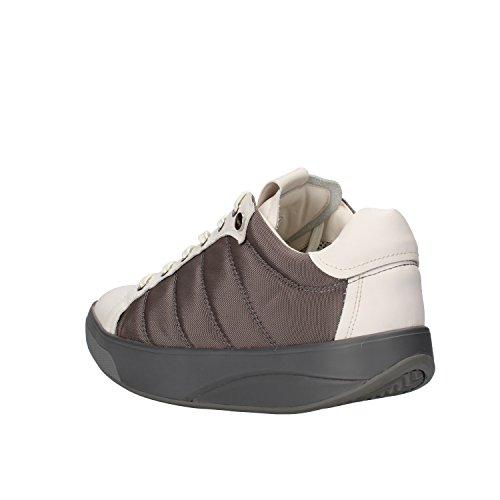 MBT Sneakers Uomo 42 EU Bianco Grigio Pelle Tessuto