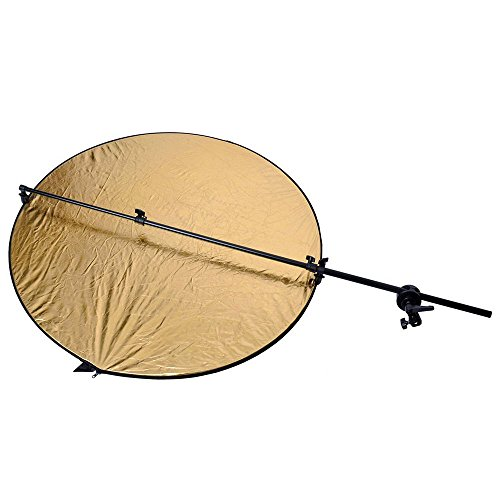 Nulink153; Photography Studio Photo Extendable Reflector Holder Arm Support with Swivel & Grip Head Clamp Holder for Light Reflector [Black] by NuLink