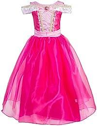 Little Girls Princess Aurora Costume Halloween Party Dress Up